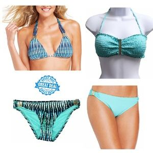 NEW Lot 2 Complete Sets Bar III Bikini Swimsuit XS